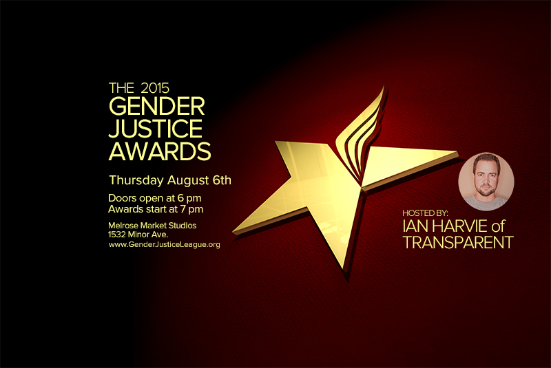 Gender Justice Awards Announced!  Join us Thurs. Aug. 6th!