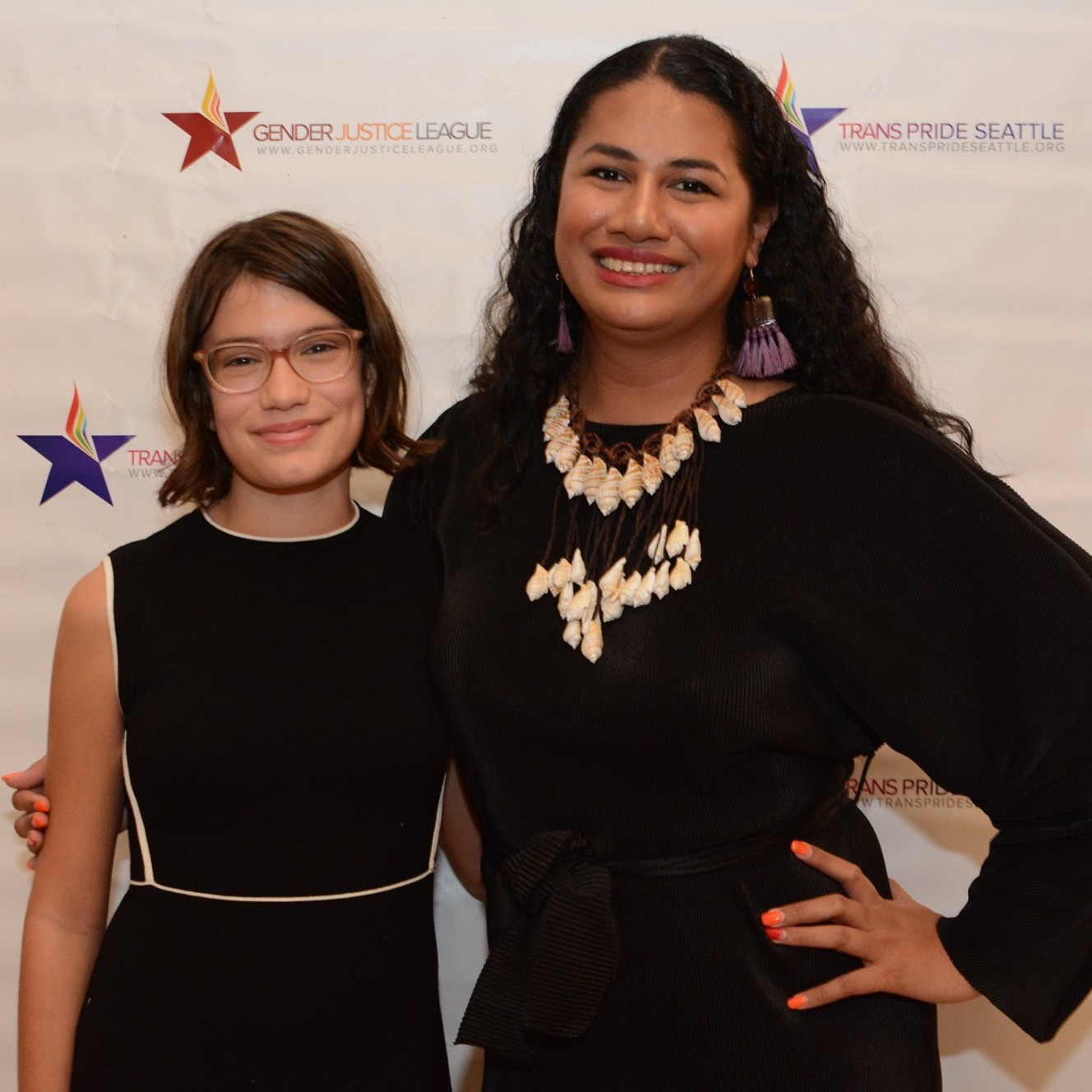 Two award winners at the 2019 Gender Justice Awards